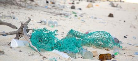 Debris on a beach. (Photo Credit: NOAA)