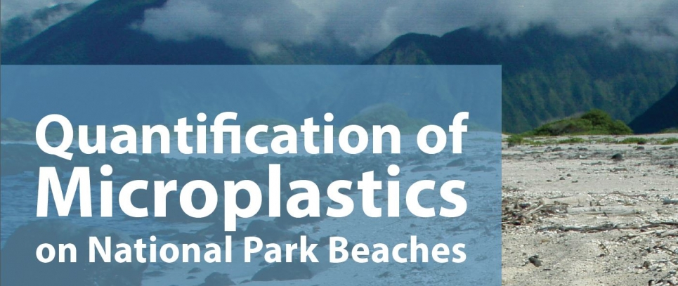 Part of the Quantification of Microplastics on National Park Beaches report cover.