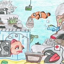 Artwork by Madison J. (Grade 7, Hawaii)