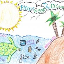 Artwork by Gerald James G. (Grade K, Hawaii)