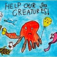 Artwork by Clayton K. (Grade 1, California)