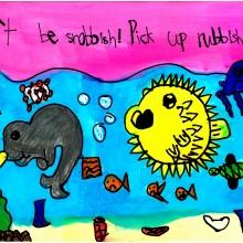 Artwork by Verona M. (Grade 1, Hawaii)
