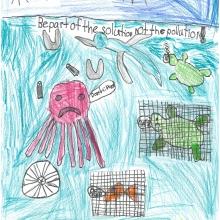 Artwork by Aman D. (Grade 1, North Carolina)