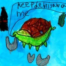 Artwork by Lillie H. (Grade 1, Washington).