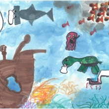 Artwork by Maile R. Genae W. (Grade 2, Georgia).