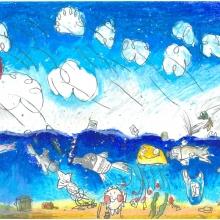 Artwork by Kameaheleikealapono S. (Grade 2, Hawaii)