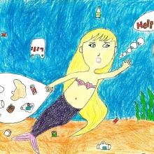 Artwork by Zilan C. (Grade 2, Michigan).