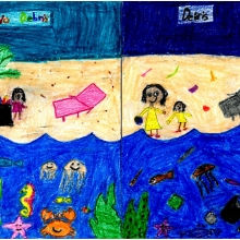 Artwork by Gana S. (Grade 2, U.S. Virgin Islands)