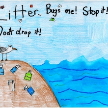 Artwork by Luke G. (Grade 3, Ohio)