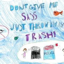 Artwork by Mia B. (Grade 3, West Virginia).