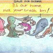 Artwork by Gautham K. (Grade 4, California)