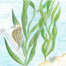 Artwork by Ellie N. (Grade 8, California)