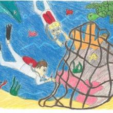 Artwork by Dakota M. (Grade 5, Louisiana)