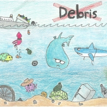 Artwork by Ryan W. (Grade 5, Michigan)