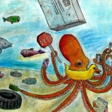 Artwork by Yufei F. (Grade 5, Michigan).