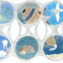 Artwork by Claire B. (Grade 6, California)