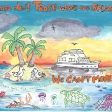 Artwork by James S. (Grade 6, Louisiana).