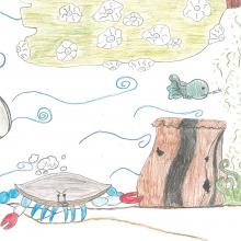 Artwork by Elaine Y. (Grade 4, Maryland)