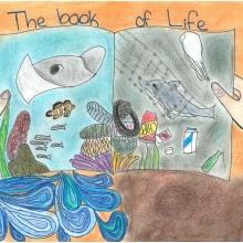 Artwork by Natalie B. (Grade 7, California).