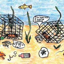 Artwork by John K. (Grade 7, New Jersey).