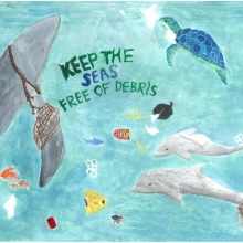 Artwork by Kathy R. (Grade 8, California).
