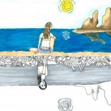Artwork by Anna J. (Grade 8, Florida).