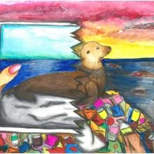 Artwork by Malisa L. (Grade 8, Hawaii)