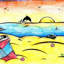 Artwork by Nadia B (Grade 8, Maryland).