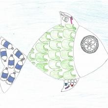 Artwork by Malley M. (Grade 8, Michigan).