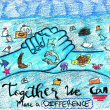 Artwork by Mia C. (Grade 8, Texas).