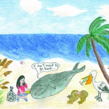 Artwork by Meryl L. (Grade 3, Florida)