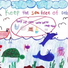 Artwork by Dannia A. (Grade 1, Hawaii)