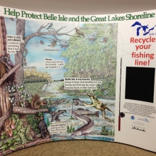 Belle Isle Marine Debris Info Display.