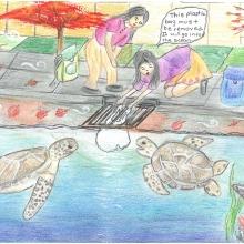 Artwork by Vaibhavi P. (Grade 7, California)