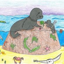Artwork by Maylina D. (Grade 8, Florida)