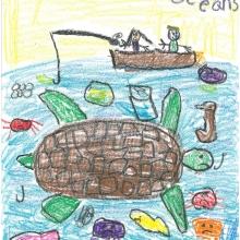 Artwork by Lindsey L. (Grade K, Florida)