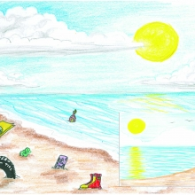 Artwork by Faye T. (Grade 4, Mississippi)