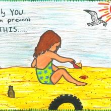 Artwork by Sofia H. (Grade 6, California)