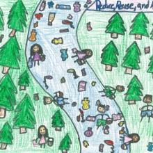 Artwork by Kiarha Y. (Grade 4, Nebraska)