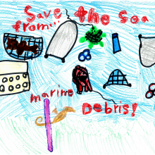 Artwork by Sabrina W. (Grade 1, Maryland).