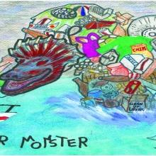 Artwork by Teeger B. (Grade 8, California)