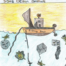 Artwork by William J. (Grade 5, Virginia)