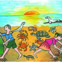 Artwork by Sasini W. (Grade 8, Maryland)