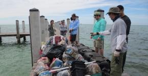 Volunteers at Florida cleanup