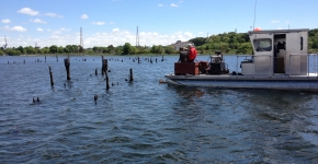 Clean Bays works to remove debris from 18 miles of shoreline and near shore environments in East Providence, Rhode Island.