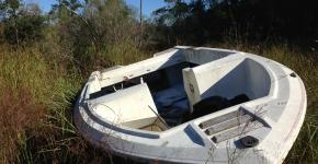 Identified Derelict Vessel in Marsh.