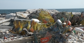 A pile of derelict lobster pots.