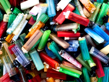 Plastic disposable lighters.