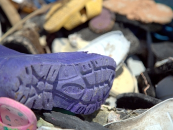 Shoes that were collected in the NWHI.