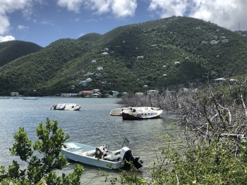 Three boats have run aground in the U.S. Virgin Islands.